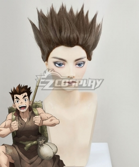 Dr.Stone Taiju Oki Brown Cosplay Wig