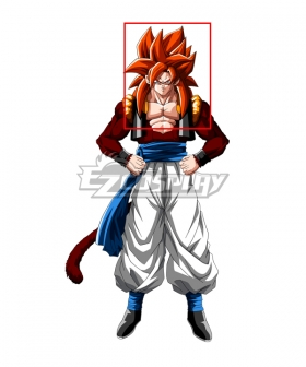 Dragon Ball GT Gogeta Super Saiyan 4 Red Cosplay Wig