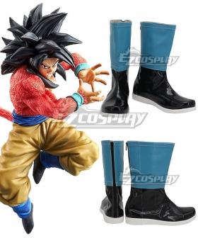 Dragon Ball GT Son Goku Kakarotto Super Saiyan 4 Black Cosplay Shoes