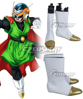Dragon Ball Son Gohan Super Great Saiyaman Silver Shoes Cosplay Boots