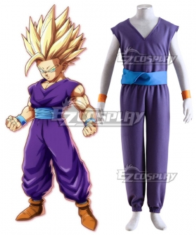 Dragon Ball Son Gohan Super Saiyan 2 Kid Cosplay Costume
