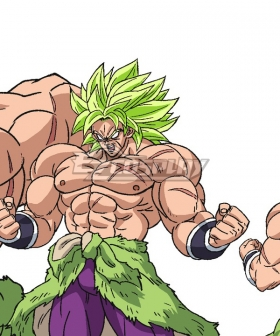 Dragon Ball Super: Broly Broly Green Cosplay Wig