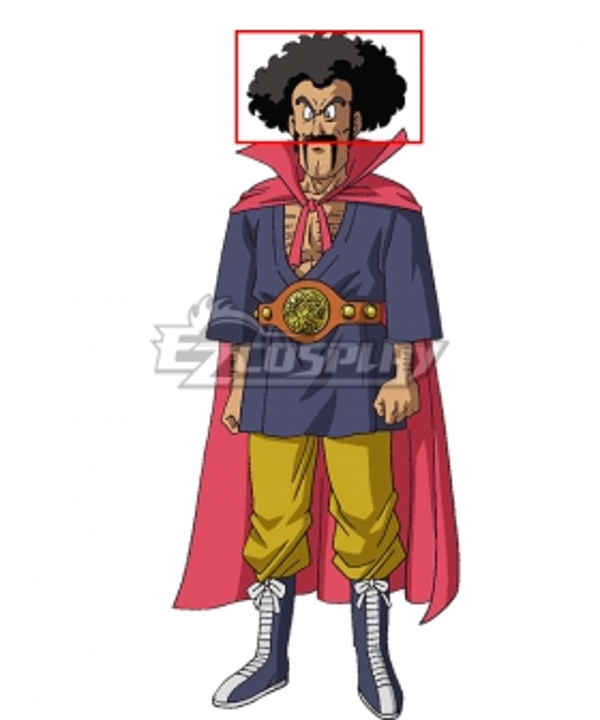 Dragon Ball Super Mr. Satan Hercule Satan Black Cosplay Wig