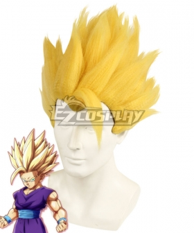 Dragon Ball Super Son Gohan Super Saiyan 2 Golden Cosplay Wig