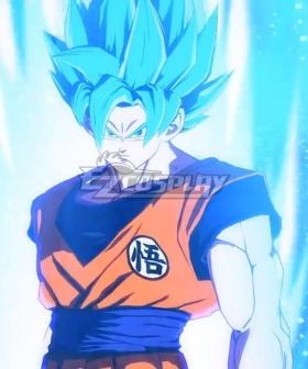 Dragon Ball Super Son Goku Kakarotto SSGSS Blue Cosplay Wig