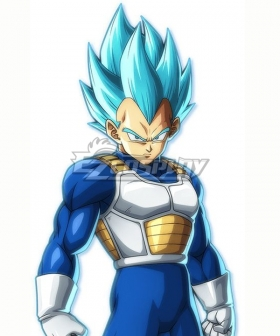 Dragon Ball Super Vegeta SSGSS Blue Cosplay Wig