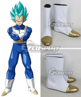 Dragon Ball Super Vegeta White Shoes Cosplay Boots