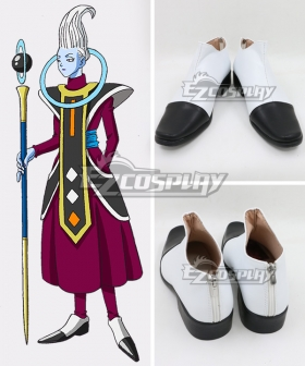 Dragon Ball Super Whis White Black Cosplay Shoes