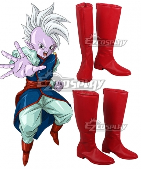 Dragon Ball Z Super Shin Red Shoes Cosplay Boots
