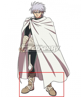 Dragon Quest: The Adventure of Dai Hyunckel White Shoes Cosplay Boots