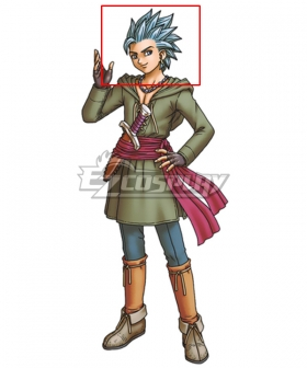 Dragon Quest XI S: Echoes of an Elusive Age Sylvia Sylvando Black Cosplay Wig