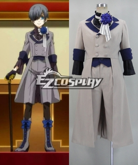 Black Butler III Book of Circus Kuroshitsuji Ciel Phantomhive Grey Cosplay Costume