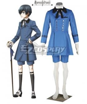 Black Butler Ciel Phantomhive Blue Cosplay Costume