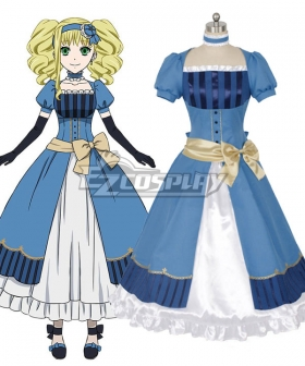 Black Butler Kuroshitsuji Movie: Book of the Atlantic Elizabeth Midford Cosplay Costume - Blue Dress