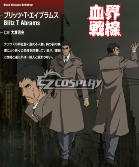 Blood Blockade Battlefront Blitz T. Abrahms Cosplay Costume
