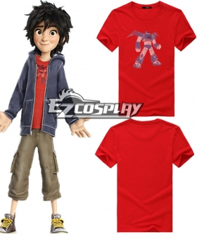 Hiro Cosplay Big Hero 6 Hiro Hamada Cosplay Costume - Red Shirt