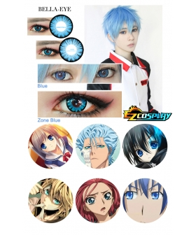 Bella Eye Generation of Miracles Kuroko's Basketball Tetsuya Kuroko Zone Blue Cosplay Contact Lense