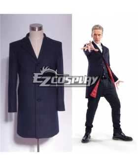 Who Is Doctor Twelveth 12th Dr. Navy Blue Frock Coat Cosplay Costume