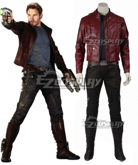 Marvel Guardians of the Galaxy Star-Lord Peter Jason Quill Halloween Cosplay Costume