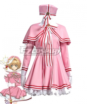 Cardcaptor Sakura: Clear Card Sakura Kinomoto Pink Dress Cosplay Costume