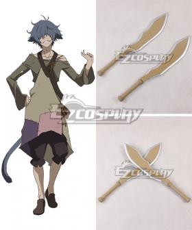 Rokka Braves of the Six Flowers Rokka no Yusha Hans Humpty Hansu Hanputi Two Swords Cosplay Weapon Prop