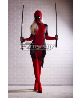 Marvel Lady Deadpool Swords Cosplay Weapon Prop