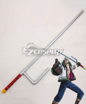 One Piece Smoker Jitte Stick Cosplay Weapon Prop