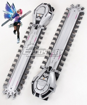 Tekken Tag Tournament 2 Alisa Bosconovitch Two Chainsaw Cosplay Weapon Prop