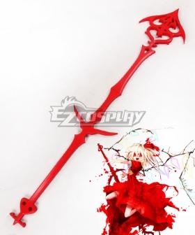 Touhou Project Koumajou Densetsu Legend of Scarlet Devil Castle Flandre Scarlet Staves Cosplay Weapon Prop