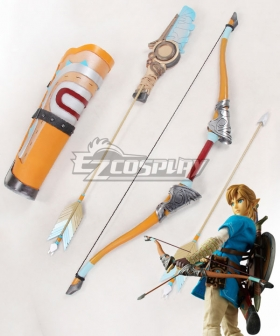The Legend of Zelda: Breath of the Wild Link Bow and arrow Quiver Cosplay Weapon Prop