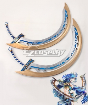 Ys VIII: Lacrimosa of Dana Dana Crescent Moon Blades Two Swords Cosplay Weapon Prop