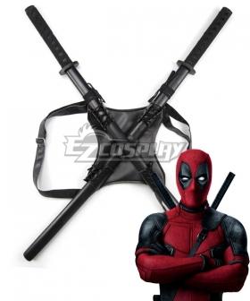 Marvel Deadpool Wade Winston Wilson Strap Two Swords Cosplay Weapon Prop
