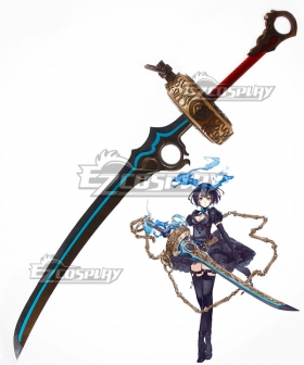 SINoALICE Alice Breaker Sword Blue Cosplay Weapon Prop