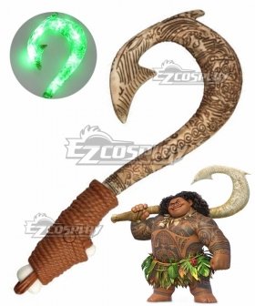 Disney Movie Moana Maui Children Fish hook Toys Cosplay Weapon Prop