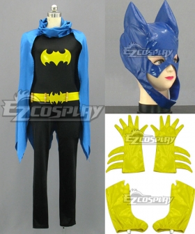 DC Comics Batwoman Batman Batgirl Cosplay Costume Blue Cloak Version