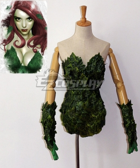 DC Comics Batman Poison Ivy Pamela Lillian Isley Cosplay Costume - Including Boots