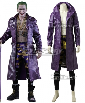 DC Batman Suicide Squad Task Force X Joker 2016 Movie Cosplay Costume