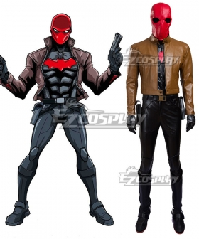 DC Batman Red Hood Cosplay Costume(Including Boots)