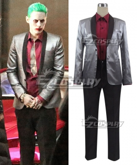 DC Batman Suicide Squad Task Force X Joker 2016 Movie Uniform Cosplay Costume