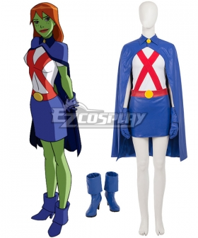 DC Young Justice Miss Martia Megan Morse Cosplay Costume - Including Boots