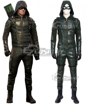 DC Comics Green Arrow Season 5 Oliver Queen Arrow Cosplay Costume - No Boots