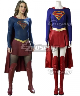 DC Supergirl Kara Danvers Cosplay Costume - No Boots and Premium Edition