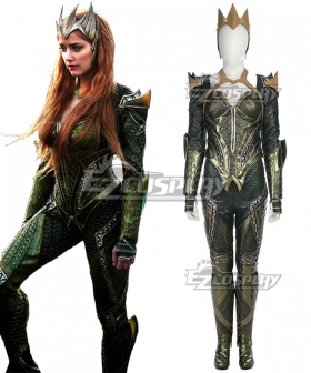 DC Justice League Movie Mera Cosplay Costume