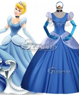 Disney Princess Cinderella Blue Dress Copslay Costume - A Edition