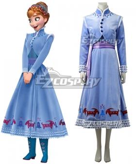 Disney Olaf's Frozen Adventure Anna Cosplay Costume