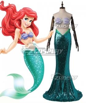 Disney The Little Mermaid Ariel Princess Merman Dress Cosplay Costume