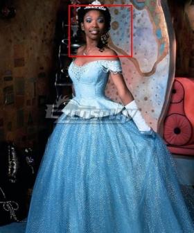 Disney 1997 Movie Cinderella Brandy Norwood Black Cosplay Wig
