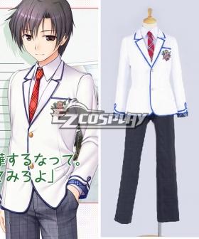 Daitoshokan no Hitsujikai Kakei Kyotarou Takamine Ikkei School Uniform Cosplay Costume