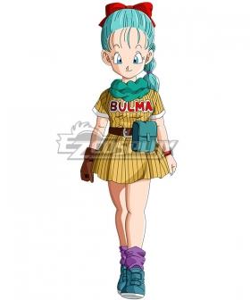 Dragon Ball Bulma Yellow Dress Cosplay Costume