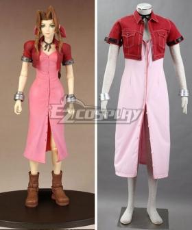 Final Fantasy VII FF7 Aerith Gainsborough Aeris Cosplay Costume